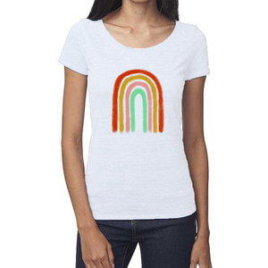 Rainbow Organic Triblend Scoop T-Shirt