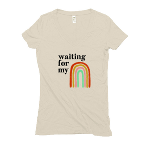 Waiting for my Rainbow after Miscarriage Hemp V-Neck Cream Women's T-Shirt