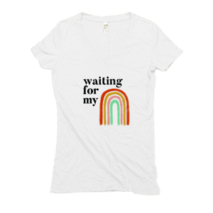 Waiting for my Rainbow after Miscarriage Hemp V-Neck White Women's T-Shirt