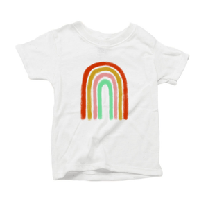 Paintbrush Rainbow Organic Cotton Toddler Short Sleeve Crew Tee