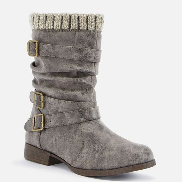 2108910818 Women Sweater Cuff Booties Casual Comfort Plus Size Shoes. Size Charts