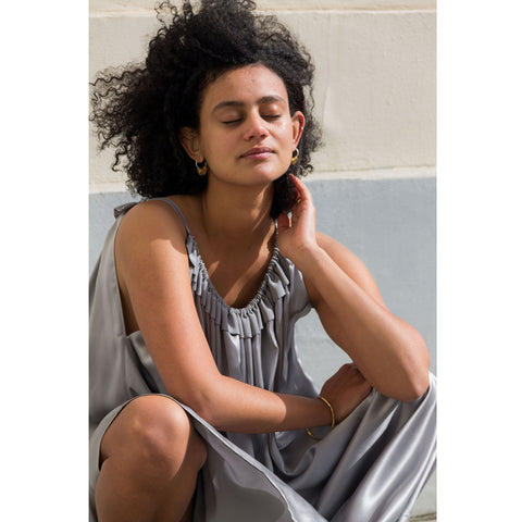 find grey silk dress limited edition here