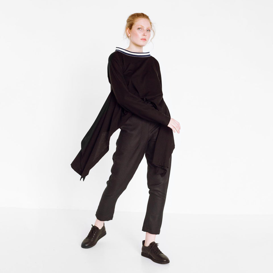 modern longsleeve with striped detail by Natascha von Hirschhausen fashion design made in Berlin