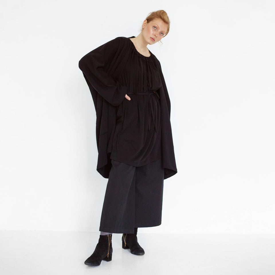 oversized cardigan with cut out detail by Natascha von Hirschhausen fashion design made in Berlin