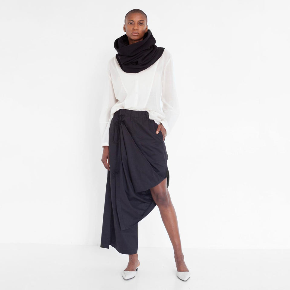 tube scarf made of organic cotton by Natascha von Hirschhausen fashion design made in Berlin
