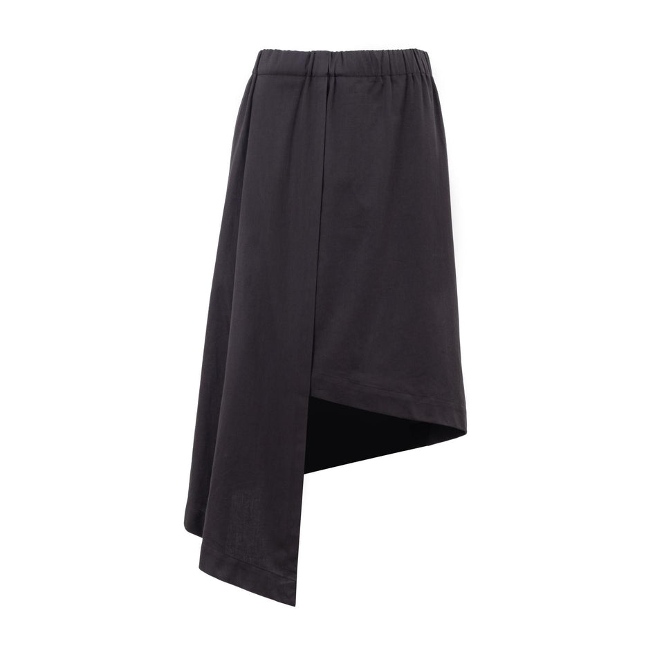 asymmetric skirt in black by Natascha von Hirschhausen fashion design made in Berlin
