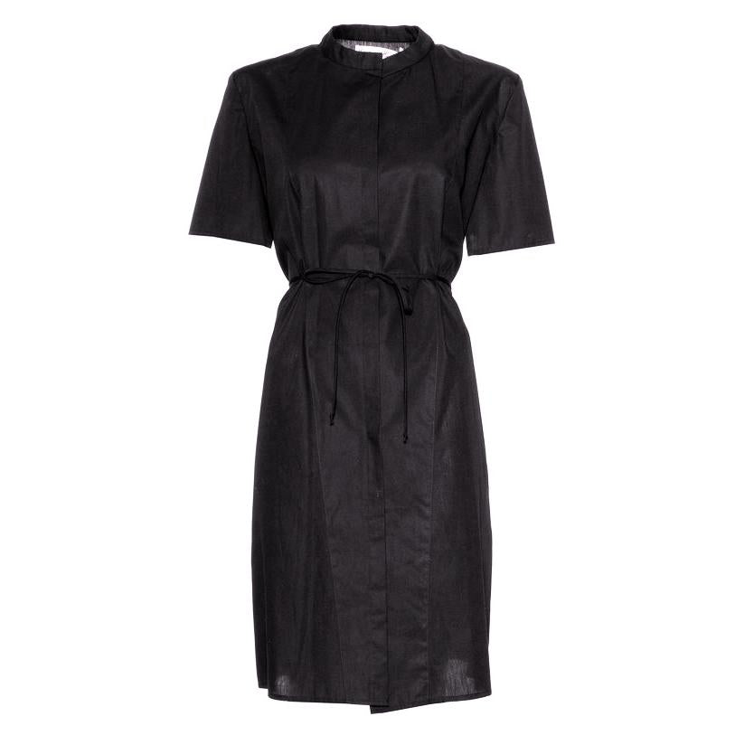 classic shirt dress in black by Natascha von Hirschhausen fashion design made in Berlin