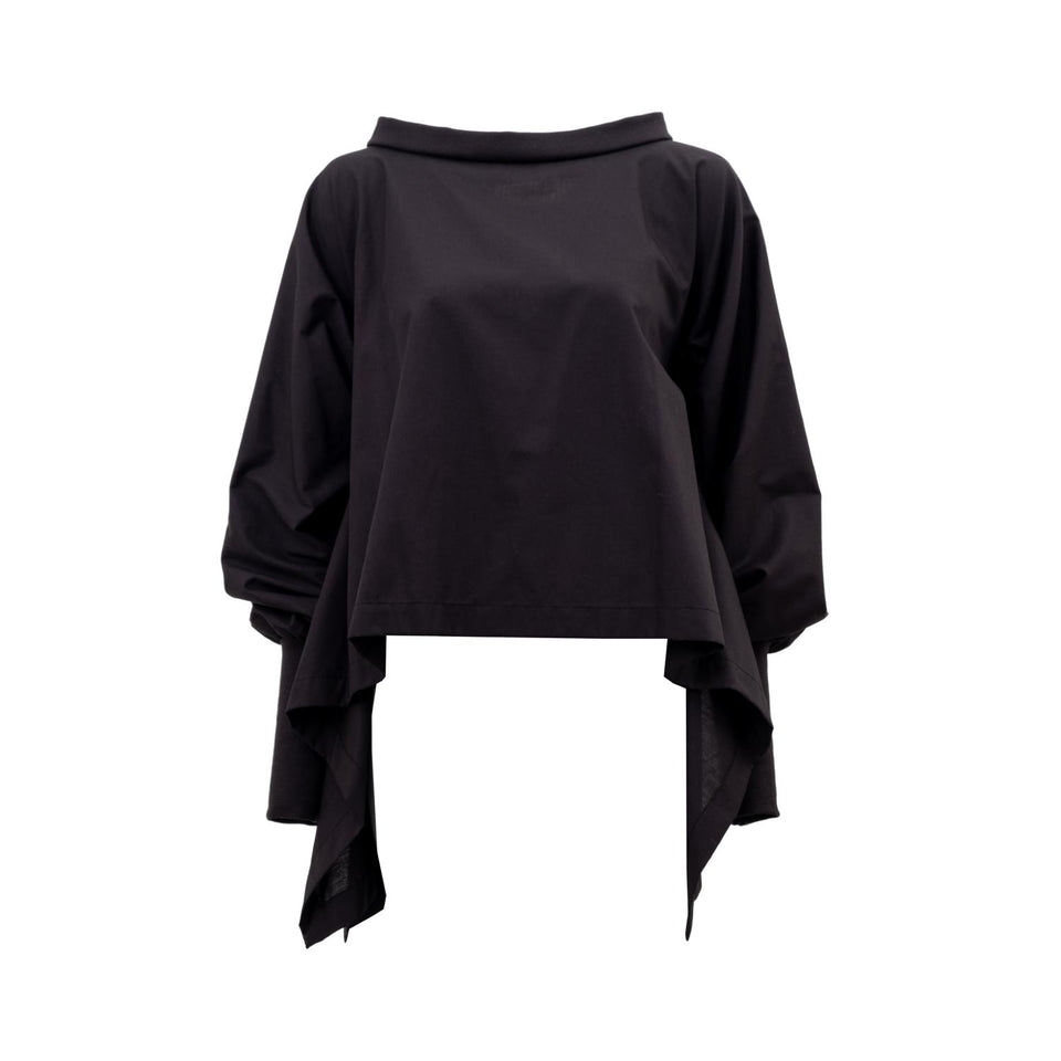versatile blouse with ruffled sleeves by Natascha von Hirschhausen fashion design made in Berlin