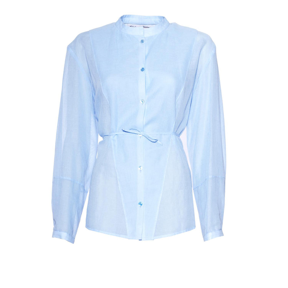 classic blouse with buttons by Natascha von Hirschhausen fashion design made in Berlin