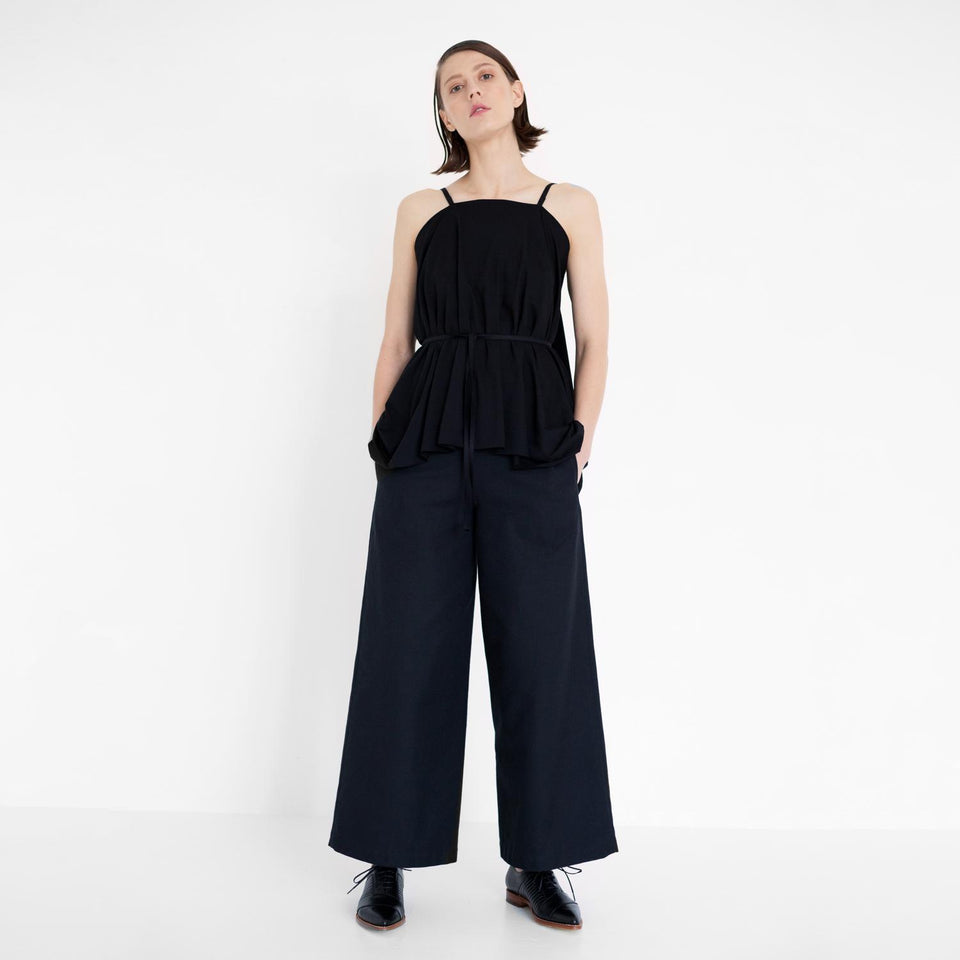 draped long top with straps by Natascha von Hirschhausen fashion design made in Berlin