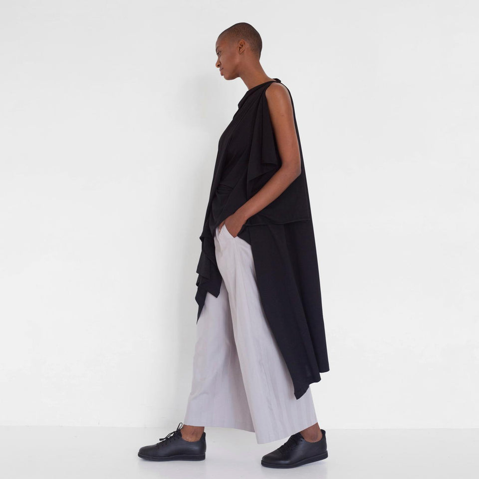 draped tunic dress made of organic jersey by Natascha von Hirschhausen fashion design made in Berlin