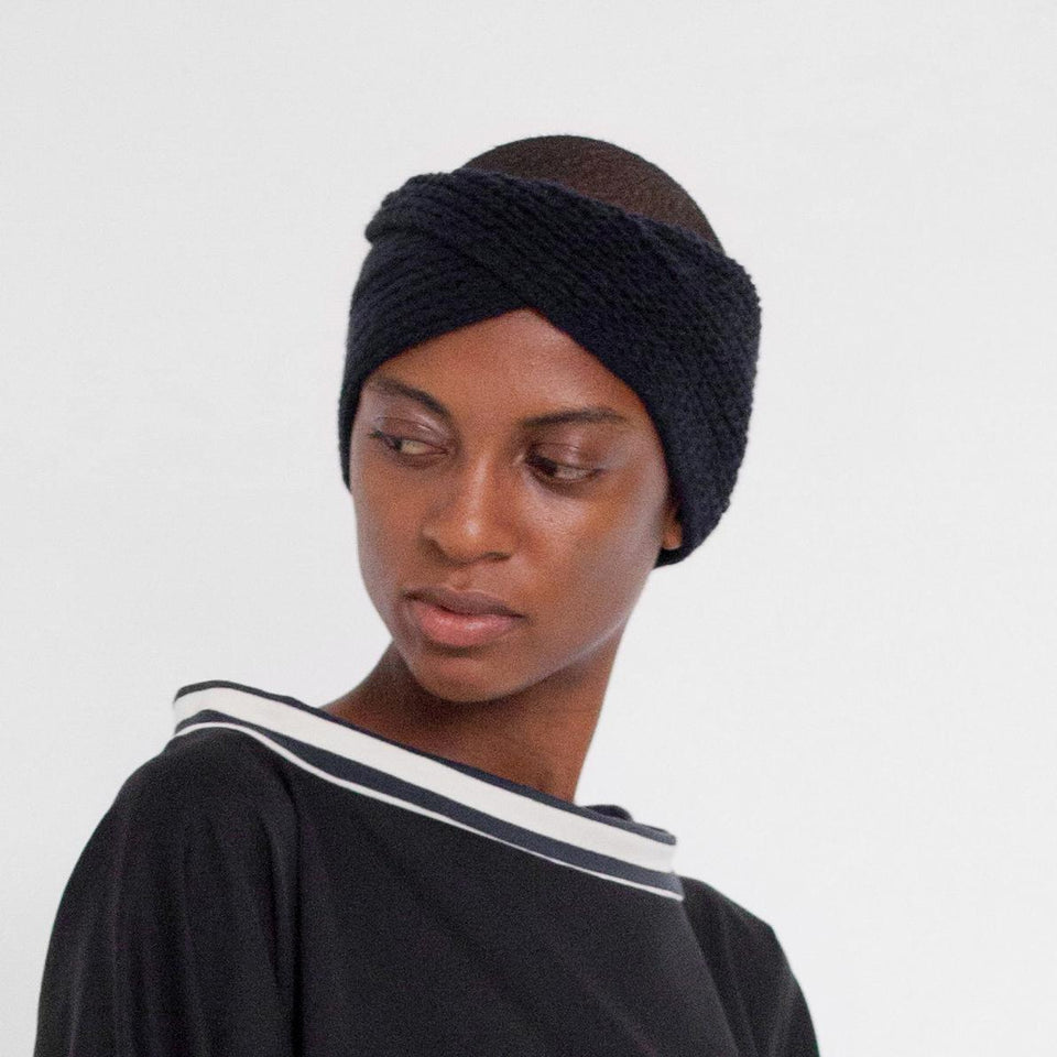 light headband made of cashmere by Natascha von Hirschhausen fashion design made in Berlin