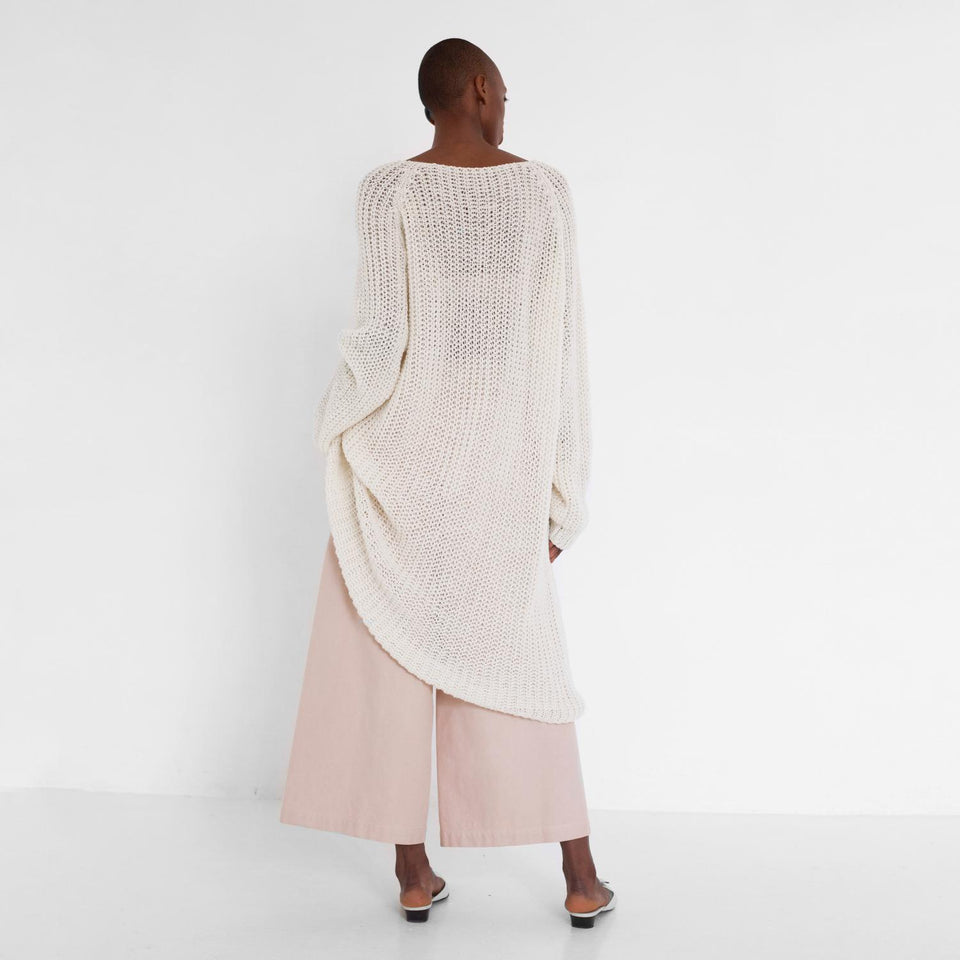 simple knit dress made of organic wool by Natascha von Hirschhausen fashion design made in Berlin