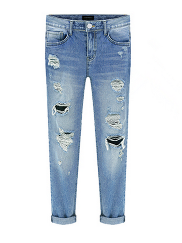 Women Blue Solid Casual Paneled Pants