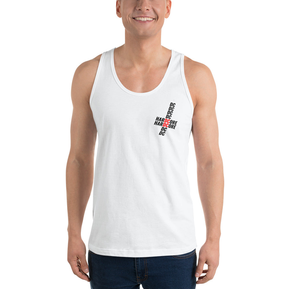 Upside Down Hardcore Cross Unisex Tank - Overmodulated