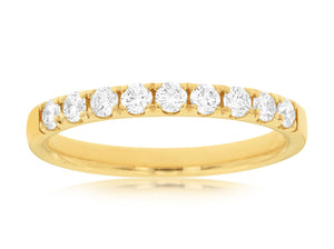 14K Yellow Gold .50 Ctw Diamond Wedding Band