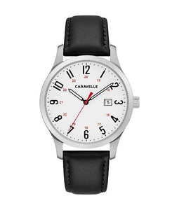 Caravelle by Bulova Men's Easy Reader Leather Watch