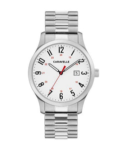 Caravelle by Bulova Men's Easy Reader Stainless Steel Expansion Watch