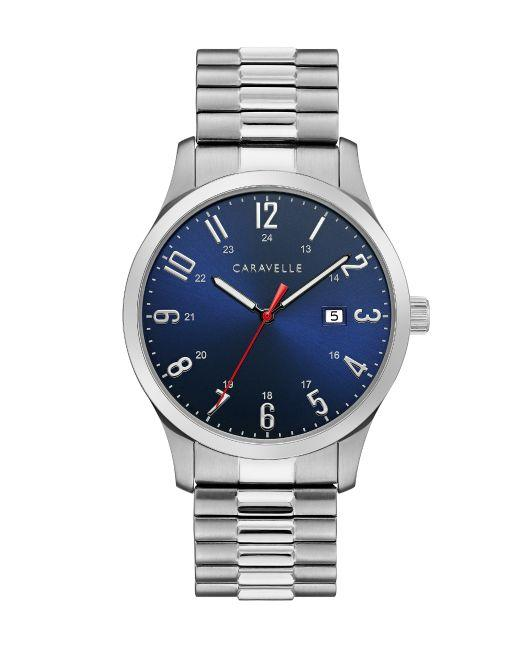 Caravelle by Bulova Men's Stainless Steel Expansion Watch