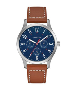 Caravelle by Bulova Men's Brown Leather Strap Watch