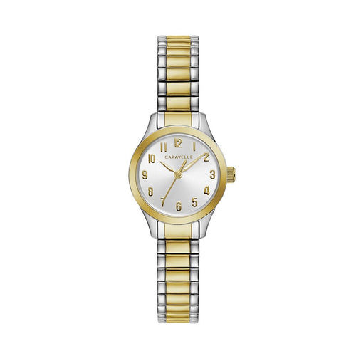 Caravelle by Bulova Women's Two Tone Stainless Steel Expansion Watch - 45L177