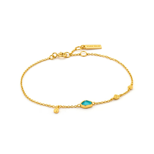 "Turquoise Discs 6.5-7.25"" Bracelet Sterling Silver with 14K Gold Plating"
