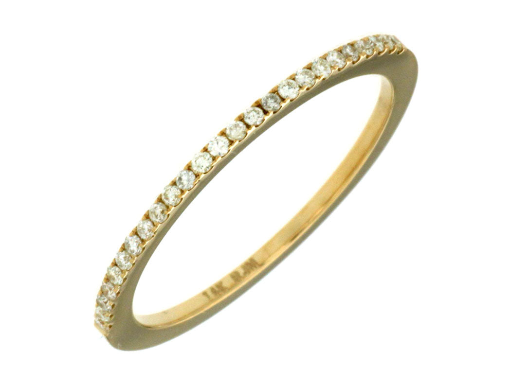 14K Yellow Gold .14 Ctw Diamond Wedding Band