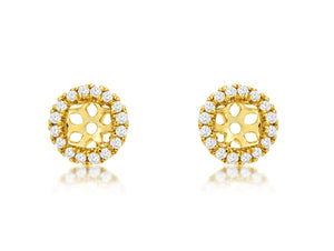 14K Yellow Gold .13 Ctw Diamond Earring Jackets