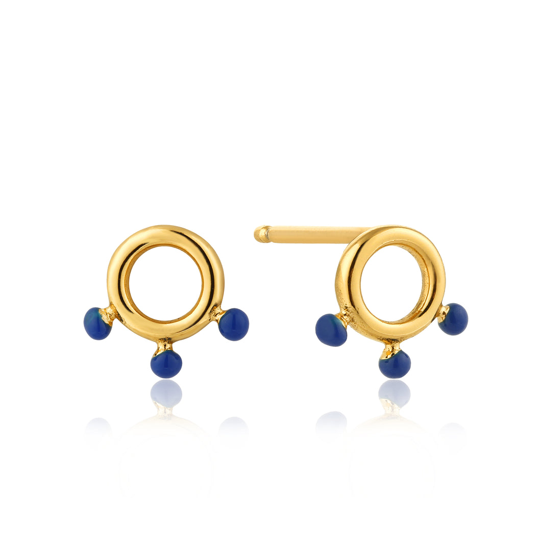 Connect The Dots Dotted Circle Stud Earrings
