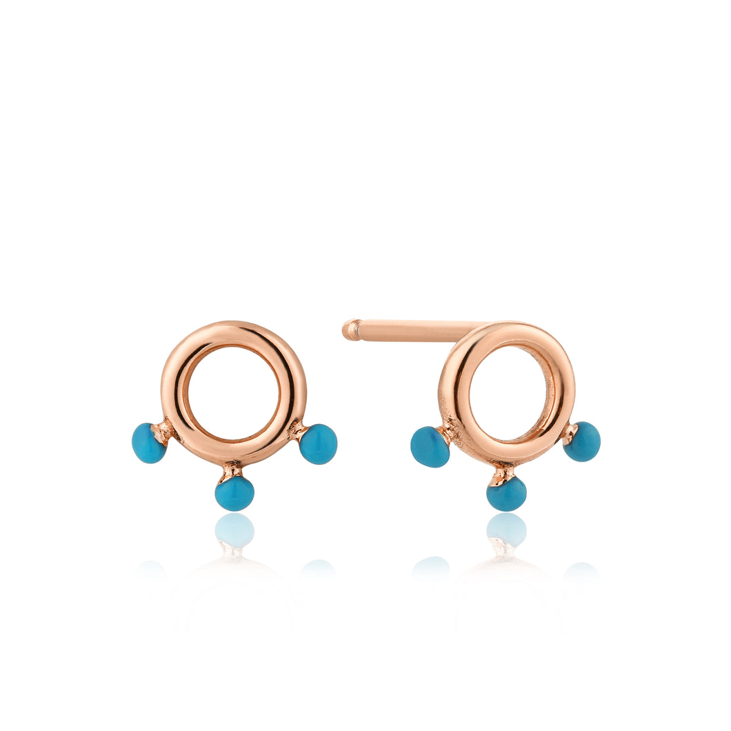 Connect The Dots Dotted Circle Stud Sterling Earrings