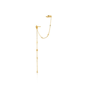 Bohemia Stud Ear Cuff Sterling Silver with 14K Gold Plating