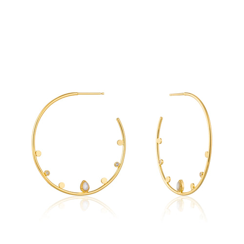 Dream Open Hoop Sterling Silver Earrings with 14K Gold Plating
