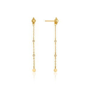 Bohemia Drop Sterling Silver Earrings with 14K Gold Plating