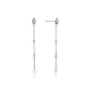 Bohemia Drop Sterling Silver Earrings with Rhodium Plating