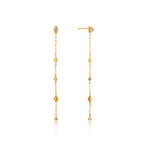 Bohemia Shimmer Drop Sterling Silver Earrings with 14K Gold Plating