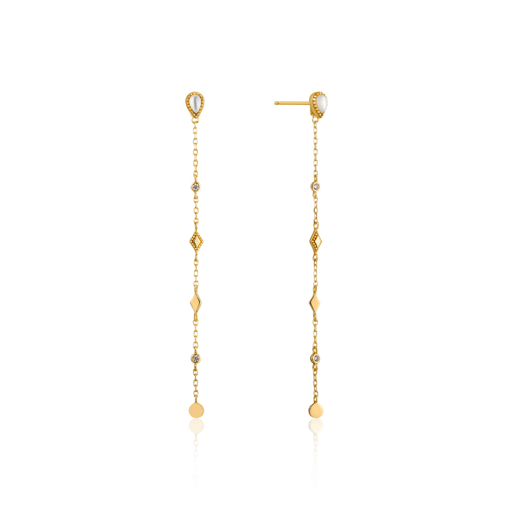 Dream Drop Sterling Silver Earrings with 14K Gold Plating