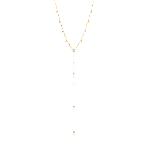 "Dream Y 18-20"" Necklace Sterling Silver with 14K Gold Plating"