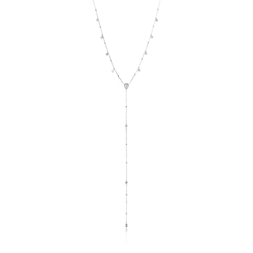 "Dream Y 18-20"" Necklace Sterling Silver with Rhodium Plating"