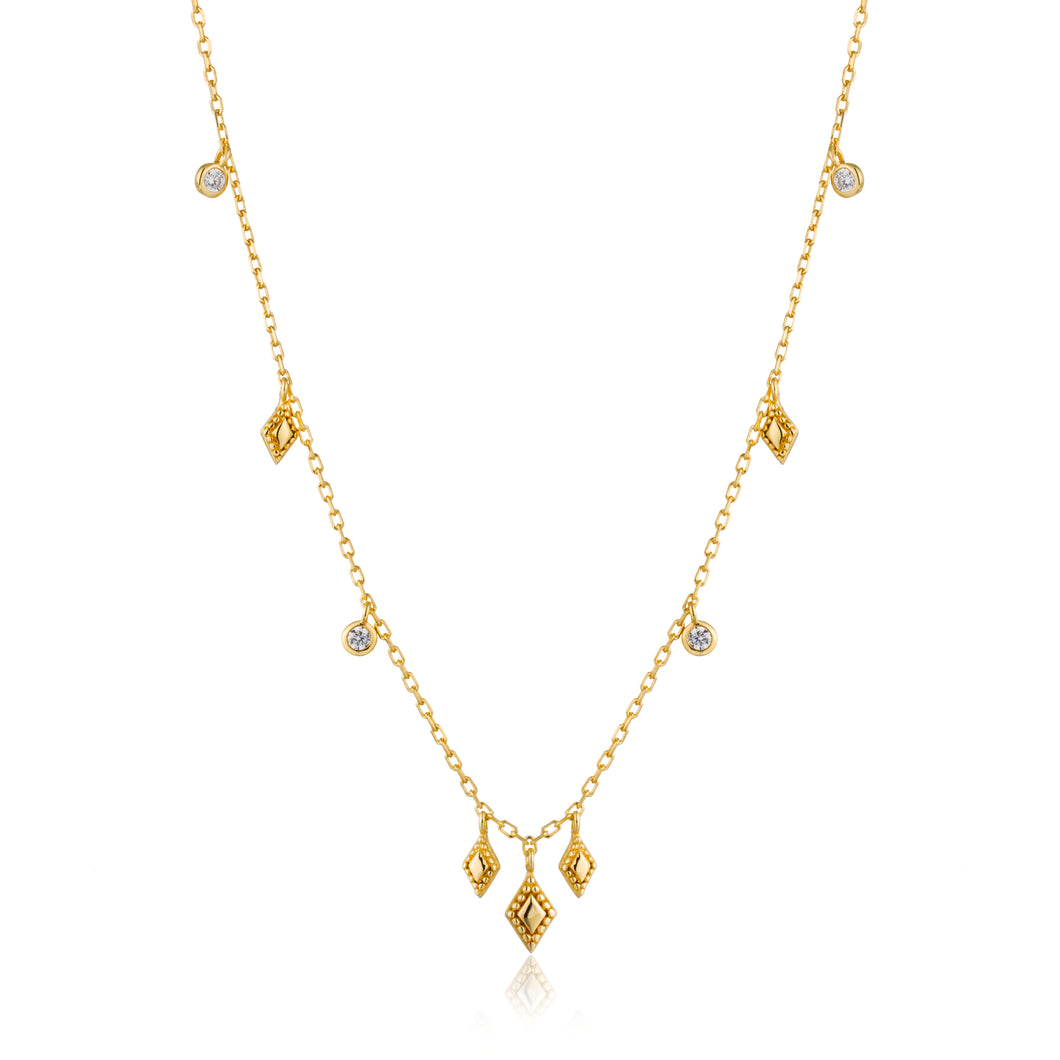 Bohemia Necklace Sterling Silver with 14K Gold Plating