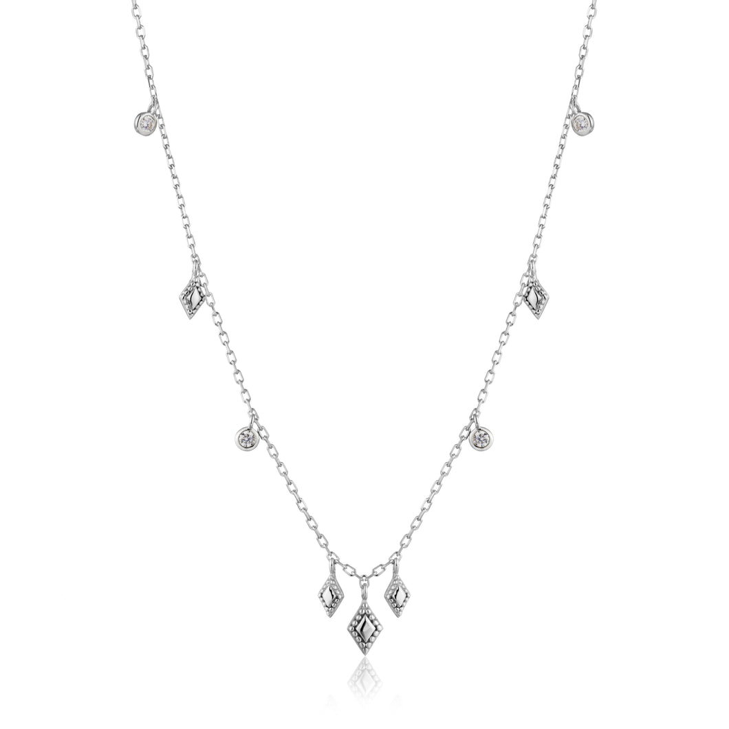 Bohemia Necklace Sterling Silver with Rhodium Plating