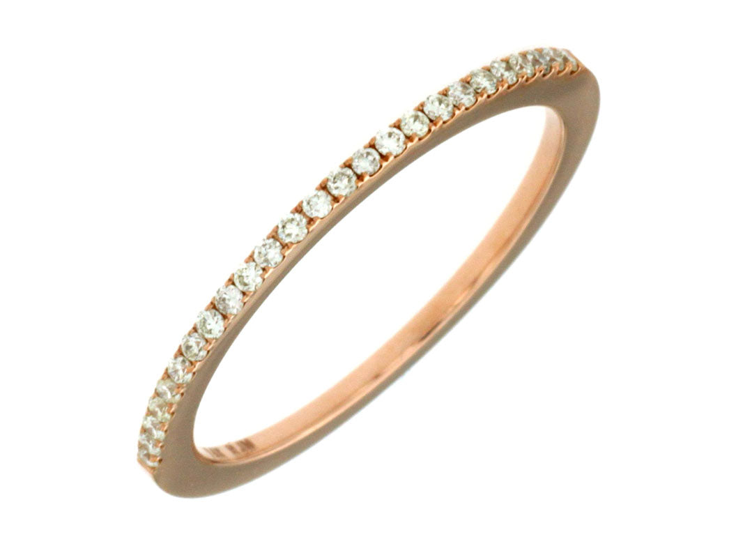14K Rose Gold .14 Ctw Diamond Wedding Band