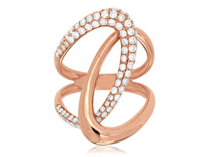 14K Rose Gold .87 Ctw Diamond Fashion Ring
