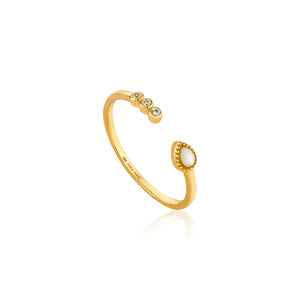 Dream Adjustable Ring Sterling Silver 14K Gold Plating