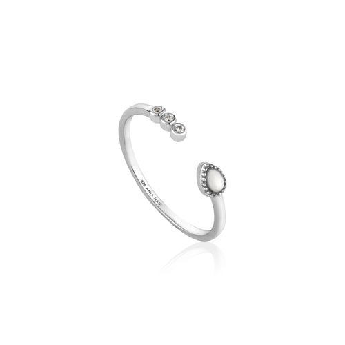 Dream Adjustable Ring Sterling Silver with Rhodium Plating