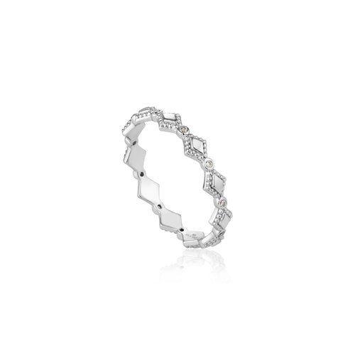 Bohemia Ring Sterling Silver with Rhodium Plating
