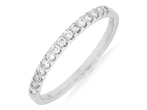 14KW Diamond Band with .25 Ctw Diamonds