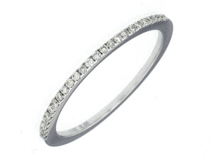 14K White Gold .14 Ctw Diamond Wedding Band