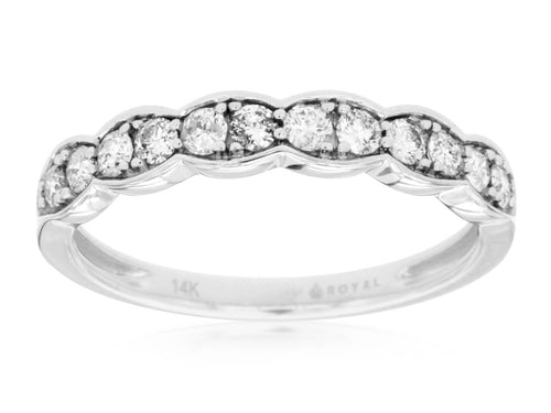 14K White Gold .40 Ctw Diamond Wedding Band