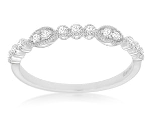 14K White Gold .15 Ctw Diamond Wedding Band