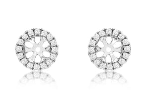 14K White Gold .29 Ctw Diamond Earring Jackets